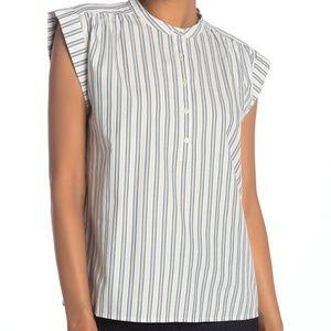 Joie Jaquita Short Sleeve Stripe Print Blouse